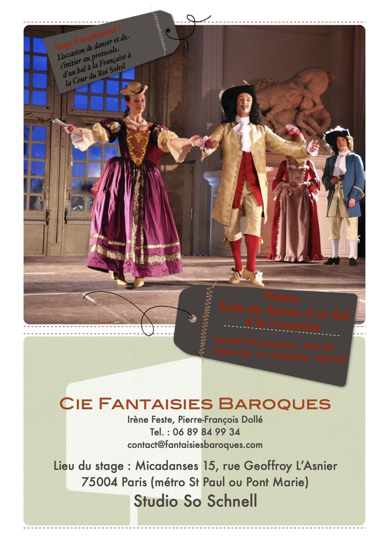 Stage Suite d'un bal à la Française