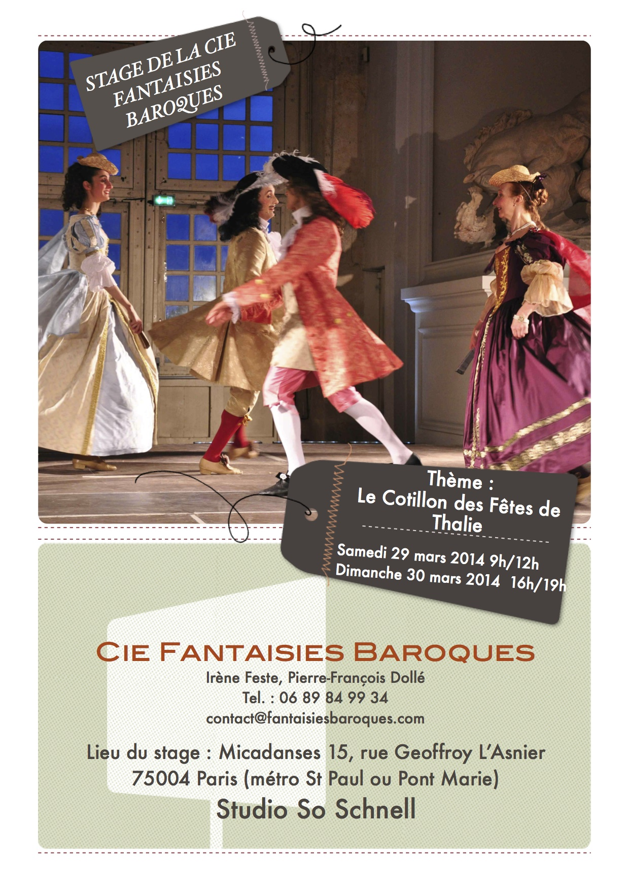 Stage mars 2014 - Cie Fantaisies Baroques