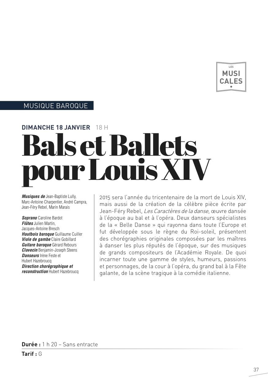 Bals et Ballets pour Lois XIV